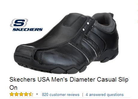 Skechers USA Diameter Casual Slip On.