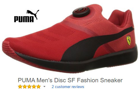 red puma sneaker disc SF