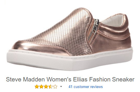 steve madden slip on shoes with zipper closure dress sneakers for women