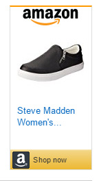 Steve Maden slip on shoes with zipper closure