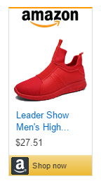 Leader Show men's red running shoes without laces