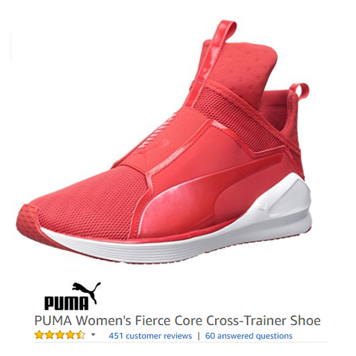 f93ed100ca6a PUMA Women s Fierce Core Cross-Trainer Shoe - Sneakers without laces