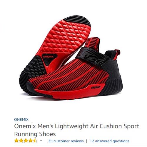 onemix s lightweight air cushion sport running shoes