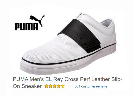 PUMA Men's EL Rey Cross Leather Slip-On Sneaker