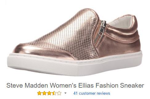 Slip on shoes with zipper: Steve Madden Ellias