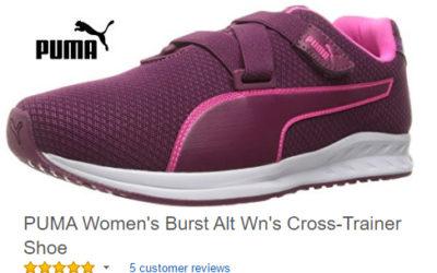 Funky purple puma sneakers for women