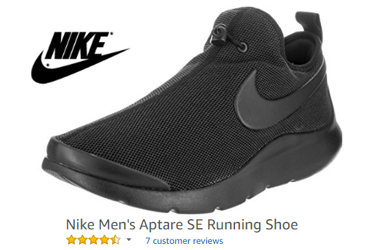 Nike Aptare SE running shoes with no strings.