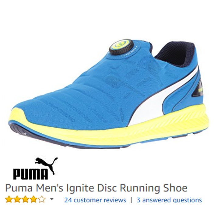 puma ignite disc sneakers without laces