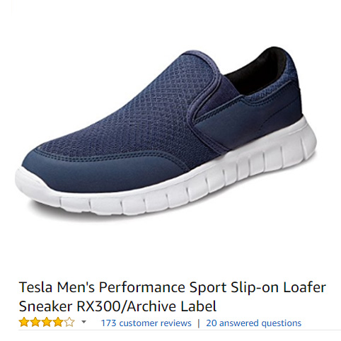 Tesla slip-on sneakers without laces