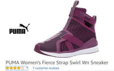 purple laceless sneakers for women – Fierce Strap Swirl trainers