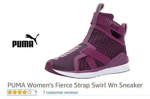 purple laceless sneakers for women – Fierce Strap Swirl trainers